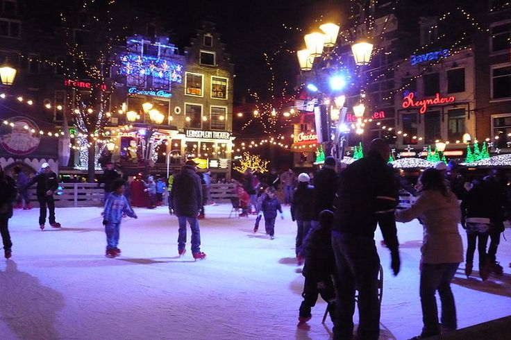Icerink in winter on the Leidseplein - Things to do in Amsterdam - The Ultimate Top 50! - Netherlands Tourism