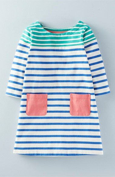 Mini Boden 'Fun' Boatneck Jersey Dress (Toddler Girls, Little Girls & Big Girls)