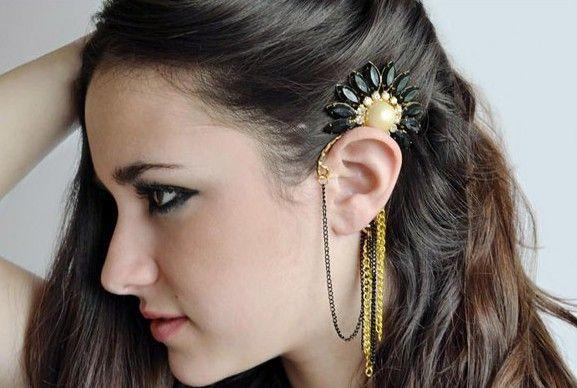 Flower&Tassel Ear wrap