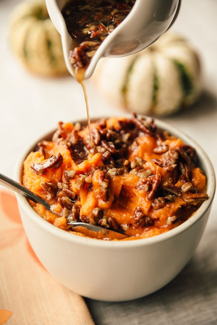 Recipe: Stovetop Whipped Sweet Potatoes with Maple Pecan Drizzle — 5 Stovetop Side Dishes for Thanksgiving
