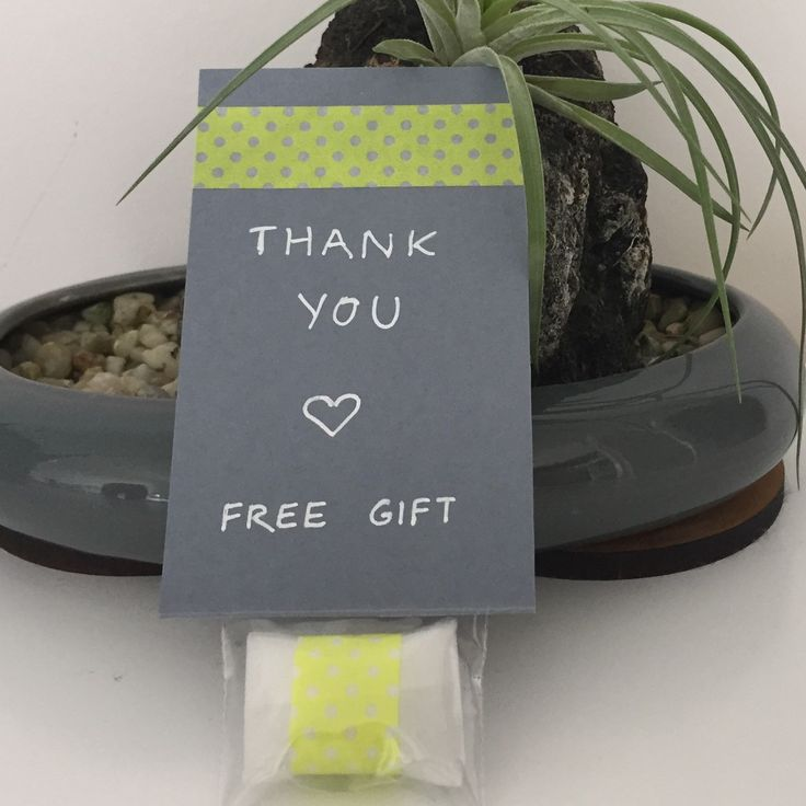 Free gift with every order in April!