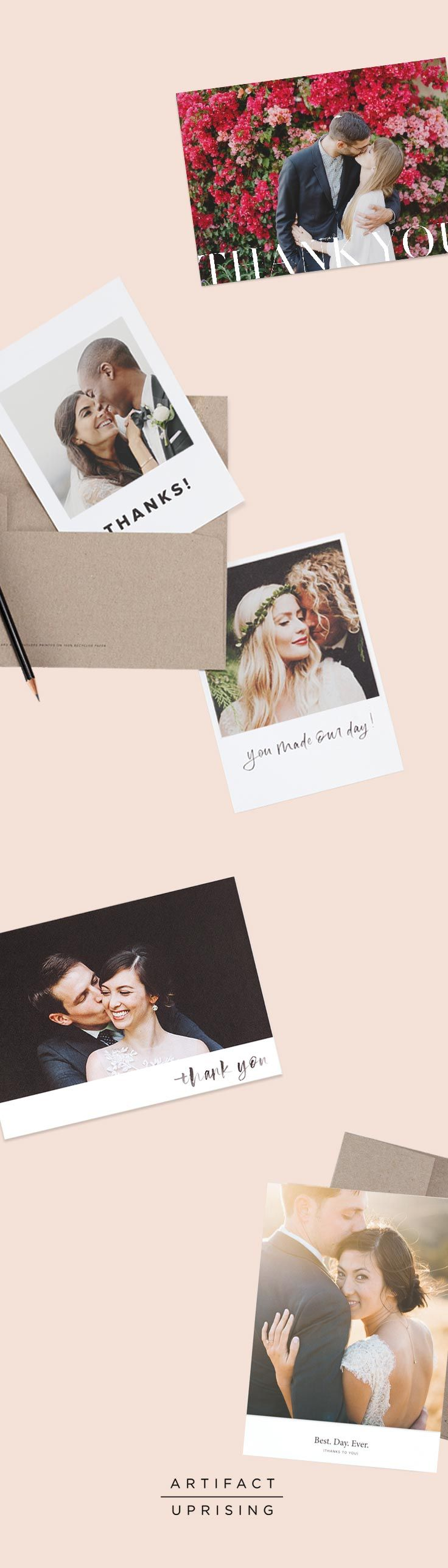 Let's be honest: It was the Best. Day. Ever. Let your guests know they made your day with these premium quality photo cards from @artifactuprsng – printed on 100% recycled paper with classic and modern designs to match. The hardest part? Picking your favorite photo.