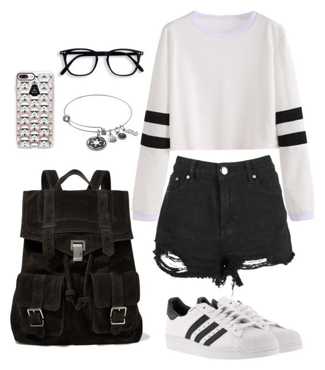 star wars by larissaymd on Polyvore featuring polyvore fashion style Boohoo adidas Proenza Schouler Casetify clothing