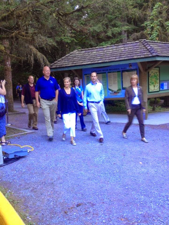 The Earl and Countess of Wessex visited the Trans Canada Trail Hike 14 sep 2014