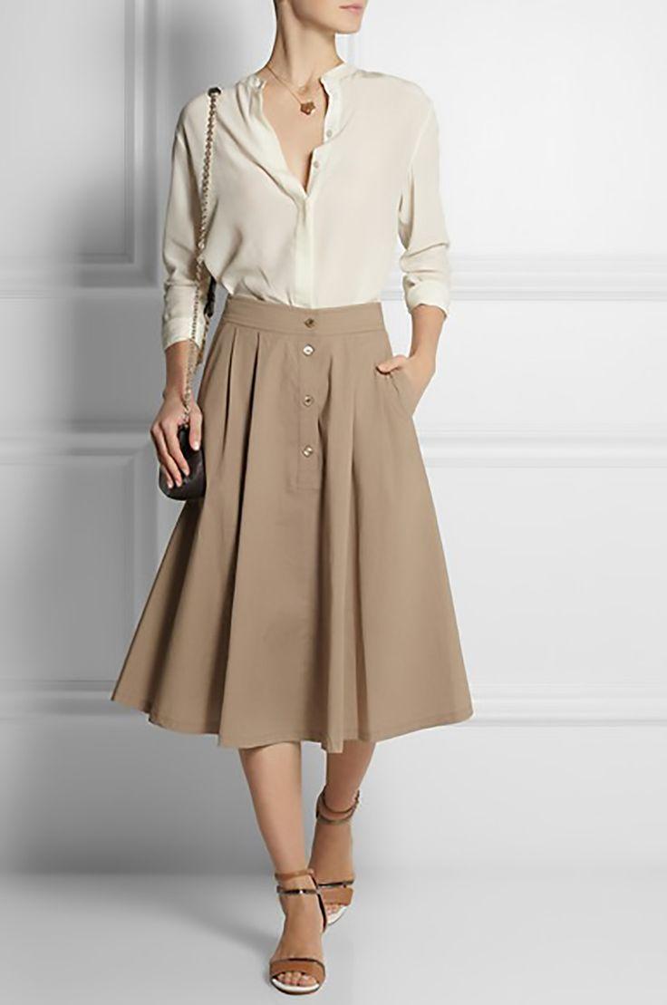 net a porter paul & joe tessy pleated stretch cotton midi skirt midis 1500.jpg