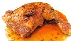 Receta de muslos de pollo al horno con naranja