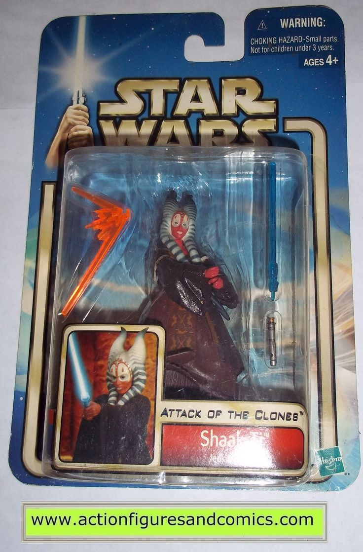 star wars action figures SHAAK TI 2002 Attack of the clones saga movie hasbro toys moc mip mib