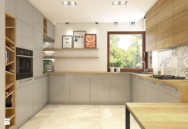Dom w Opolu - Duża otwarta kuchnia w kształcie litery u, styl nowoczesny - zdjęcie od WERDHOME