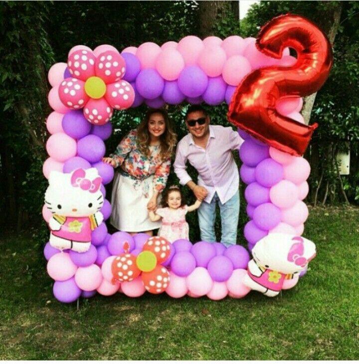 marco con globos para fiestad infantiles decoracion con