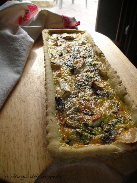IL RIFUGIO DELL'INGORDO: torta con funghi e formaggio di capra