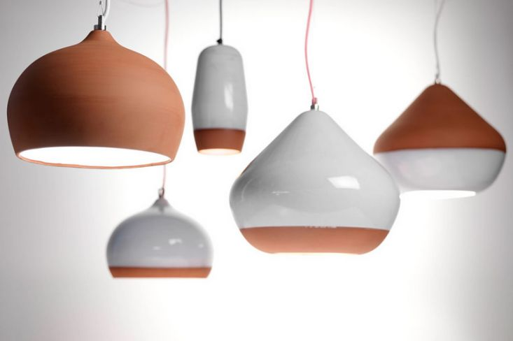 Large Terracotta Pendant Lights from Hand and Eye Studio | Remodelista