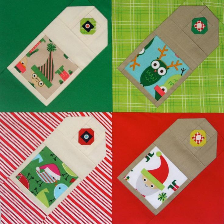 Gift Tag Quilt Block Free Pattern By Michelle Wilkie