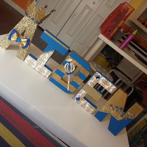 Royal Paper Mache Letters by KnoahsArt2015 on Etsy                                                                                                                                                      More