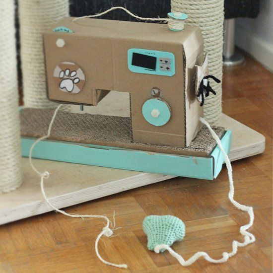 Make Your Own Cat Scratch Sewing Machine