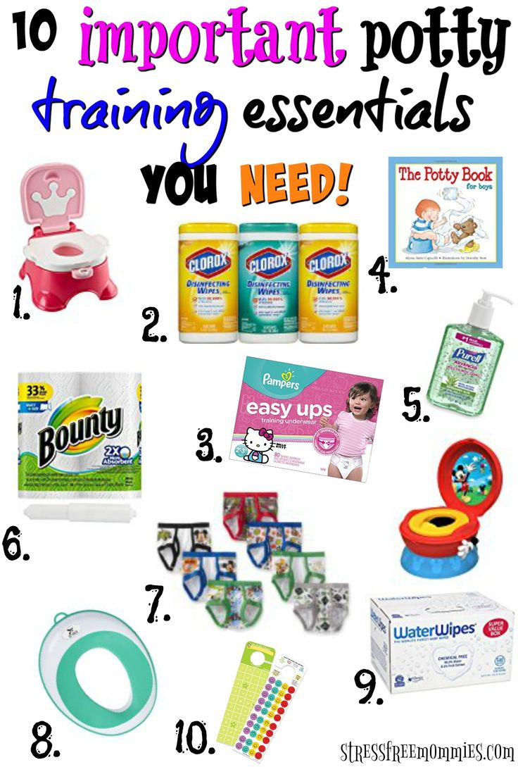 Are you ready to potty train your toddler? Find out what you need in order to potty train with ease and stress free! Stock up on these items because you'll be glad you did, pin now!