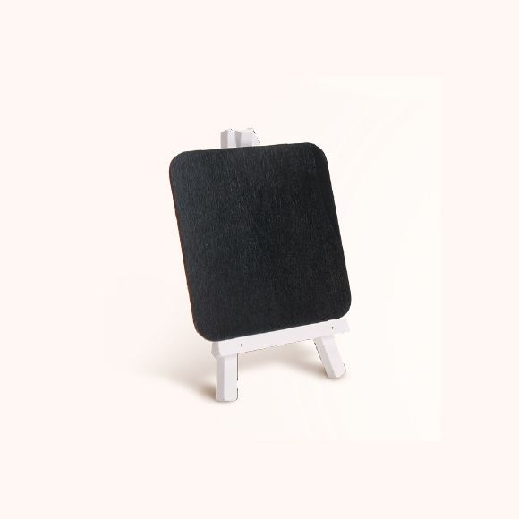 Cavalete Quadro Negro Borda Branca