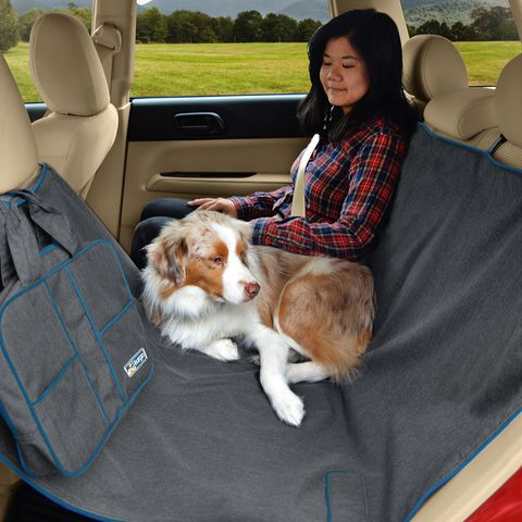 Our same best-selling dog car hammock in a stylish new Heather Pattern protects your car seats from dirt and water