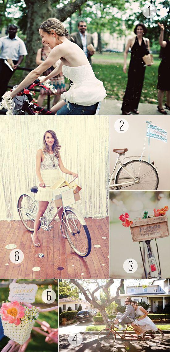 Bicycle wedding ideas via Stockroom Vintage. Sweet bikes for sweet couples! #bike #bicycle #wedding