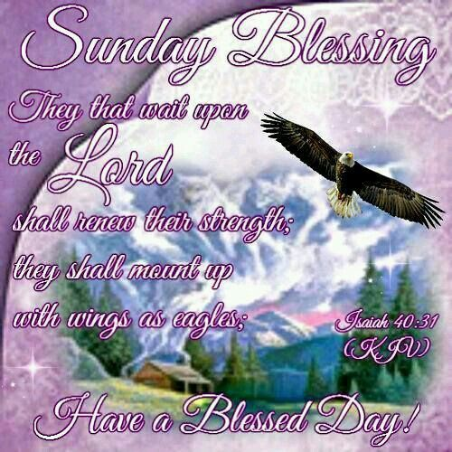 Isaiah 40:31  (KJV)   But they that wait upon the Lord shall renew their strength; they shall mount up with wings as eagles; they shall run, and not be weary; and they shall walk, and not faint
