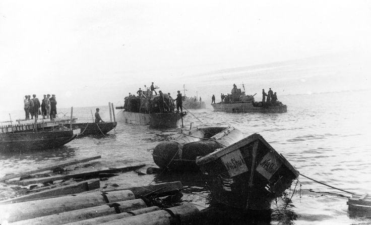 Soviet armored boats type 1124 in Crimeria