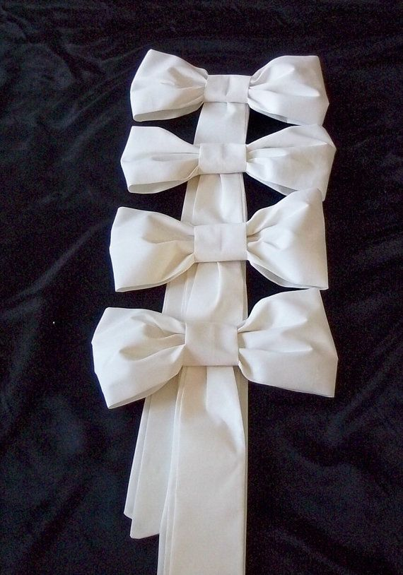 Pew Bows in White or Ivory Wedding Bows Aisle by shannonkristina