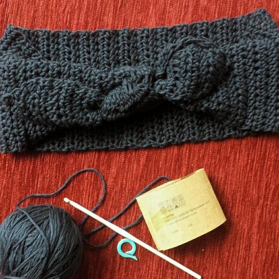 knitted urban headband crochet headband by AnnaHandmadeknitwear