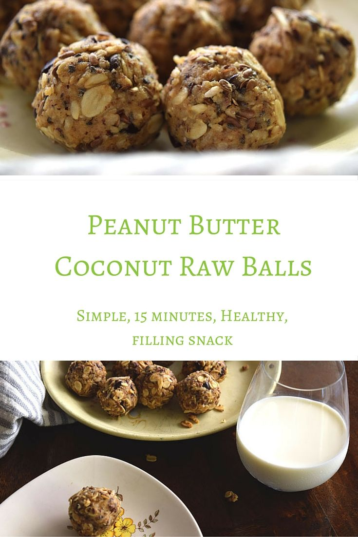 These Peanut Butter Coconut Raw Balls are a simple, gluten free, dairy free, healthy, tasty and filling snack. Perfect for those 3pm munchies to get you through your work out before dinner.