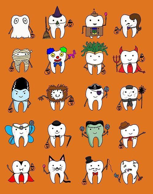 Llegó Halloween y tus dientes también se quieren disfrazar, aquí te dejamos algunas ideas #OdontólogosCol #Odontólogos #Halloween