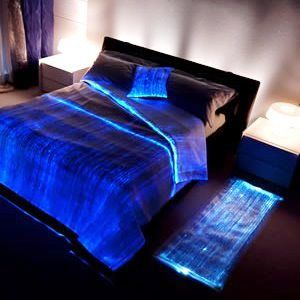 L24 - Luminous Bed Cover (fiber optic fabric).  I really think I might want this.