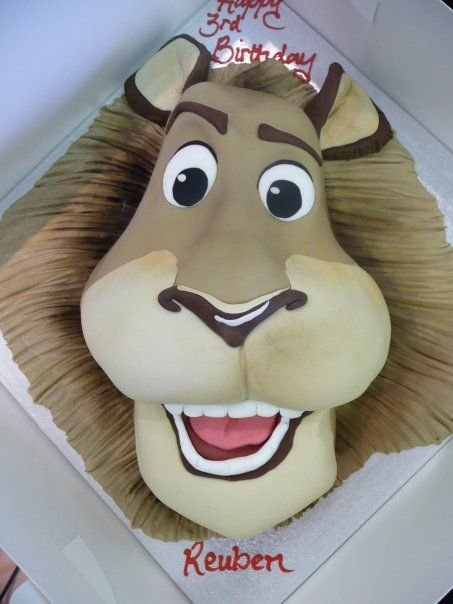 www.facebook.com/cakecoachonline - sharing Lion face