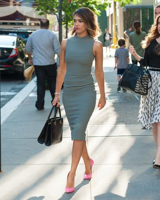 Jessica Alba Work Outfits Women Short Hair Outfits Spring Outfits