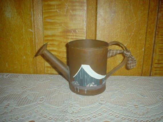 Hey, I found this really awesome Etsy listing at https://www.etsy.com/listing/71336490/primitive-water-can-hp-homespun-tie