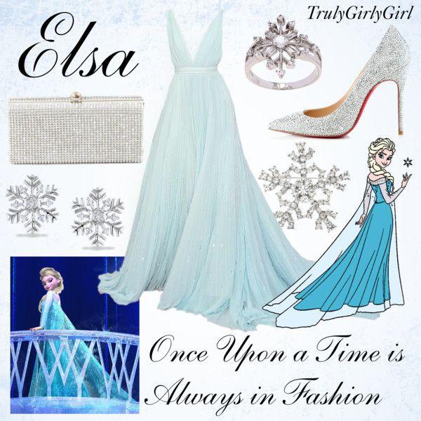 Disney Style: Elsa by trulygirlygirl on Polyvore featuring Christian Louboutin, La Preciosa, Miadora and Disney