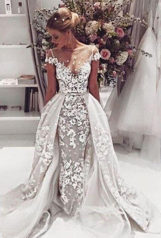 fashion trend Wedding Gown Designers of 2016 detachable train . custom made contact Mia