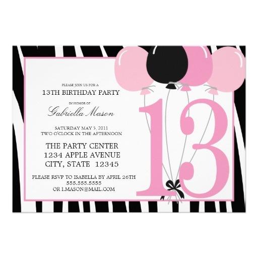 Sle invitation wording for 13th birthday 28 images 7 best images sle invitation filmwisefo