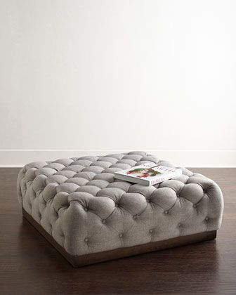 Opal Tufted Ottoman at Horchow.