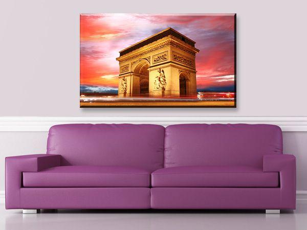 Πίνακας σε καμβά DigiWall ΓΑΛΛΙΑ : Περίφημη Αψίδα του Θριάμβου στο Παρίσι