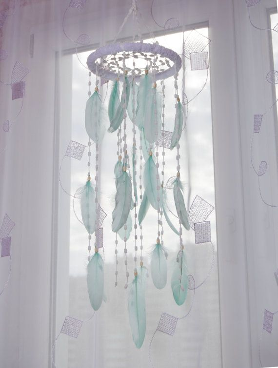 Hey, I found this really awesome Etsy listing at https://www.etsy.com/uk/listing/293616729/mint-babu-mobile-dream-catcher-nursery