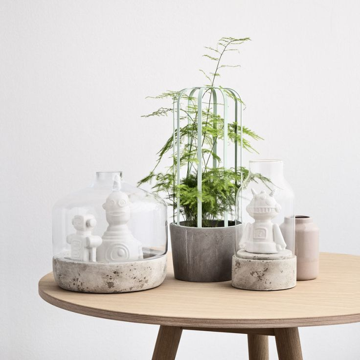 The Cactus flower pot is made by using a concrete pot and steel frame top, on which plants can grow. It can also be used as a decorative pot for small plants like a cactus.