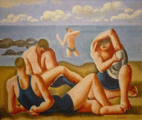 "William Roberts (English, 1895 - 1980) ""Swimmers Resting"", 1925"