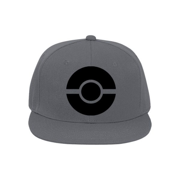Black Pokemon hat Flat Bill Fitted Hats 123-969 123-9692026 Custom... ❤ liked on Polyvore featuring accessories, hats, head wear and gloves, flat bill hats, fitted hats, flat bill cap, logo hats and cap hats