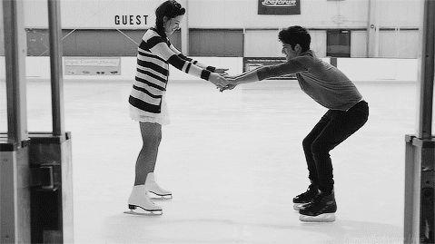conocer el amor-patinar