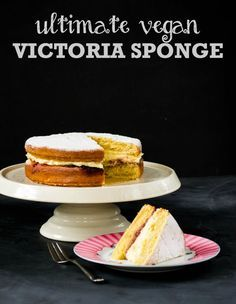 How to make the Ultimate Vegan Victoria Sponge Cake - recipe for a light-as-air sponge with creamy buttercream filling, plus 5 top tips for vegan baking.