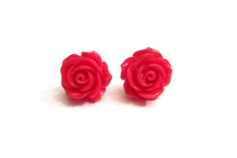 Retro Rose Studs – Dirty Lola's