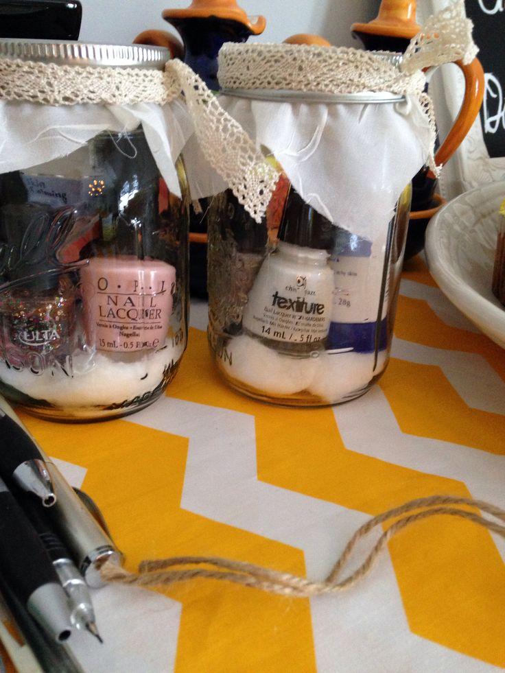 Mini mani prizes baby shower