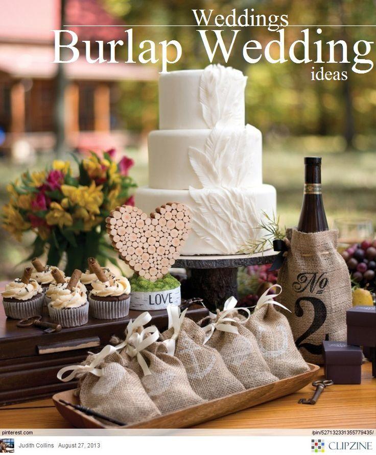 10 Creative Rustic Wedding Ideas using Burlap #rusticweddings #burlap #bohobrides