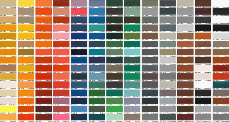 Картинки по запросу цветовая карта ral
