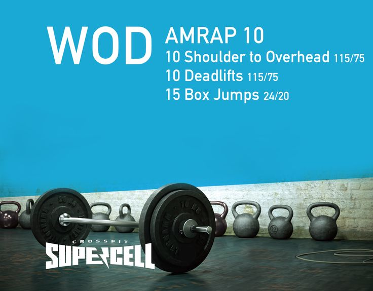 Change that overhead weight to 55-65 and that deadlift weight to 100+ and we have ourselves a WOD!