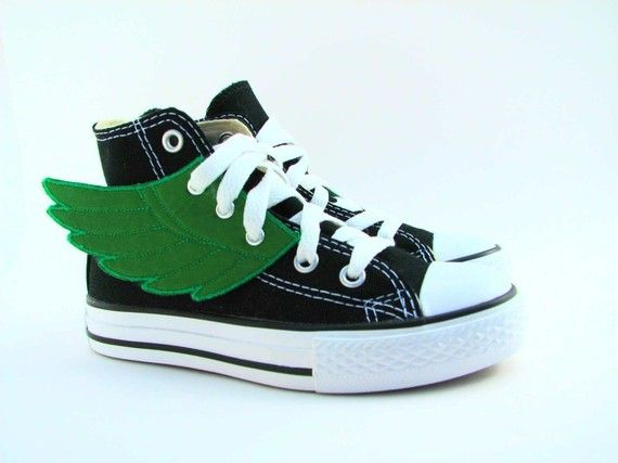 Not to ruin the suprise... but these Kelly green wings will be attached to my chucks for the rest of my life!