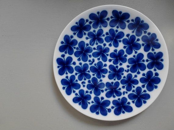Vintage fika plate Rorstrand Marianne Westman Mon by Scandipots, $49.00